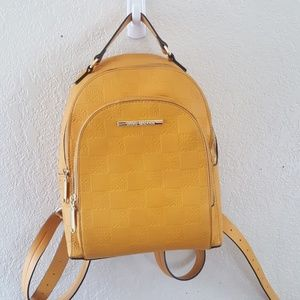 Steve Madden gold Faux leather Backpack GUC